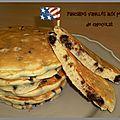 Pancakes vanillés aux pépites de chocolat