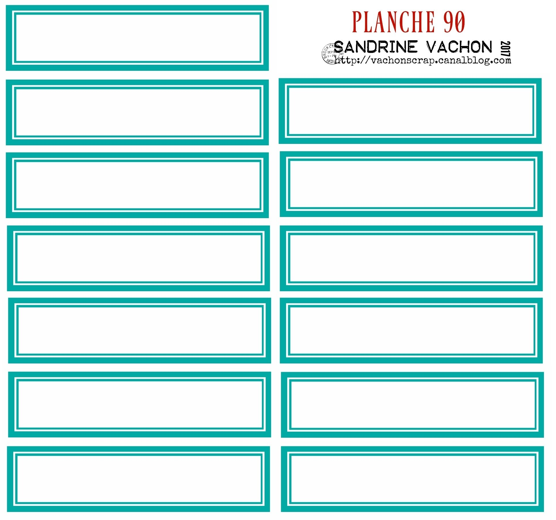 PLANCHE 90 TURQUOISE