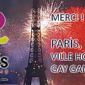 Paris accueillera les gay games 2018 !