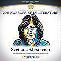 Le prix nobel de littérature 2015 décerné à la biélorusse svetlana alexievitch