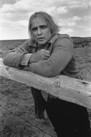 Marlon Brando on the Set of The Missouri Breaks Billings Montana 1975