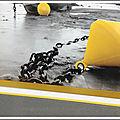 cadre bouée jaune zoom