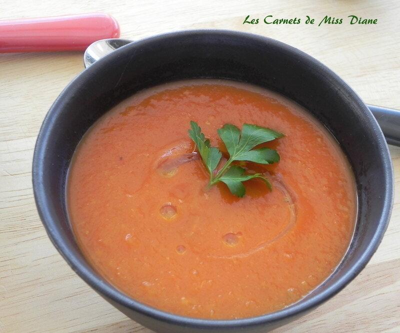 Potage de tomates au fenouil, sans gluten et sans lactose