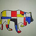 Arts visuels d'après Mondrian