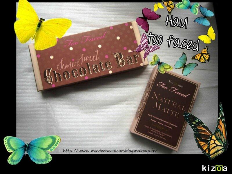 Too faced chocolate bar semi sweet & natural matte.