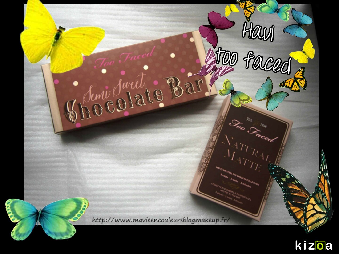 Too faced chocolate bar semi sweet & natural matte.