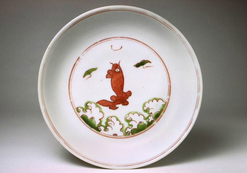 Saucer or shallow bowl, Ming dynasty (1368-1644), Reign of the Jiajing emperor (1522-1566)