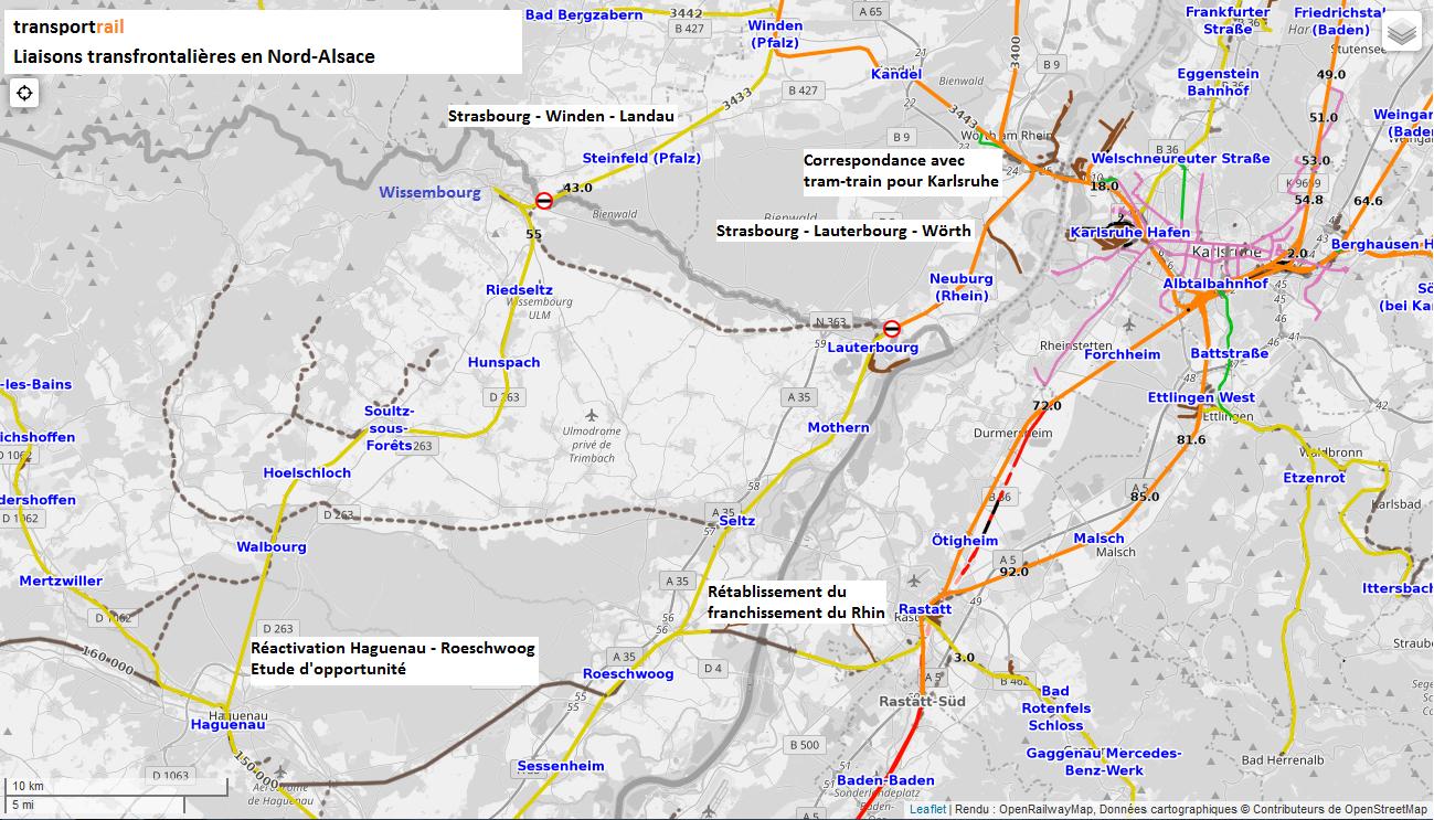 Carte Ferroviaire Alsace.Grand Est Vers Des Liaisons Transfrontalieres