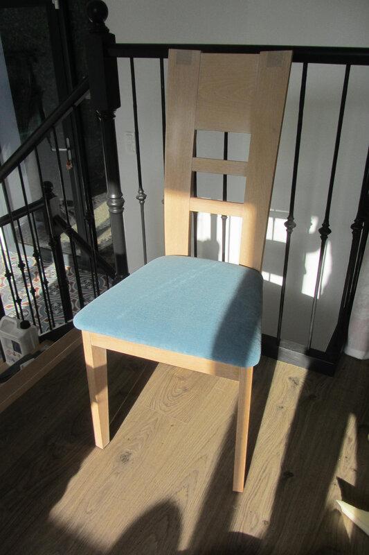 changer le tissu d'une chaise