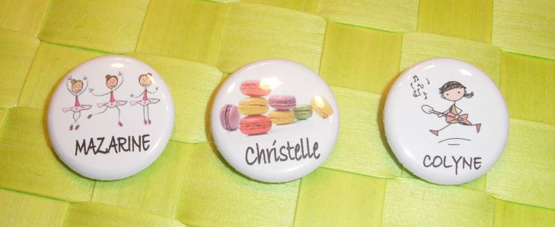badges chantal