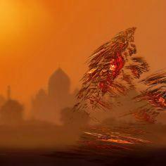 Voilier sur Taj Mahal