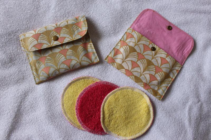 lingettes démaquillantes lavables et pochette de rangement 5