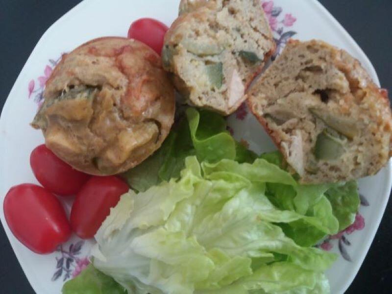 cakes courgettes-poulet-chèvre