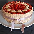 Charlotte fraise-rhubarbe