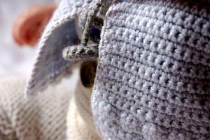 angelo gilet bleu crochet