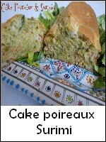 cake poireau surimi weight watchers