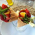 Salade de fruits fraîche en cornet
