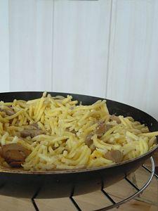 spatzle-champignon-creme
