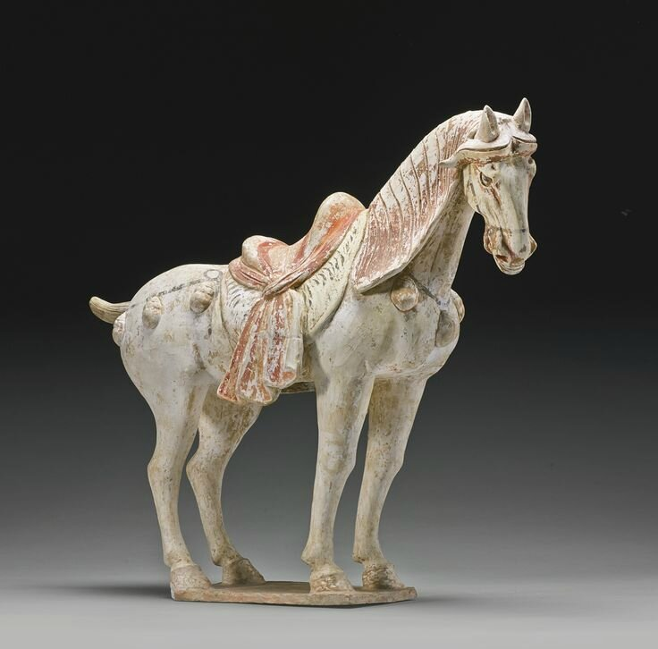 A painted pottery figure of a horse, Tang dynasty1