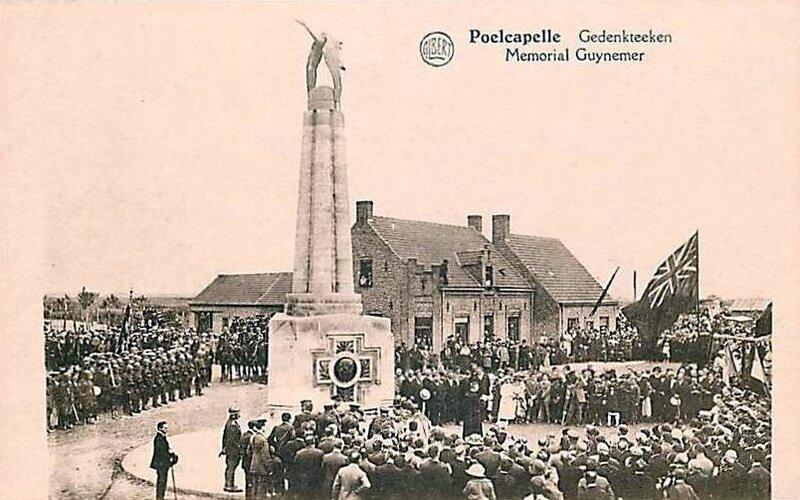1917-10-05 belgique-poelcapelle-memorial-guynemer-jour-de-ceremonie