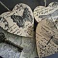 Tamponner sur du zinc bois papier ...