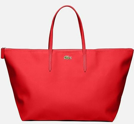 lacoste sac shopping rouge