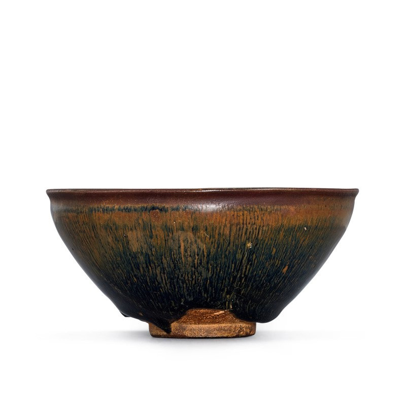 An inscribed Jian 'hare's fur' bowl Southern Song dynasty