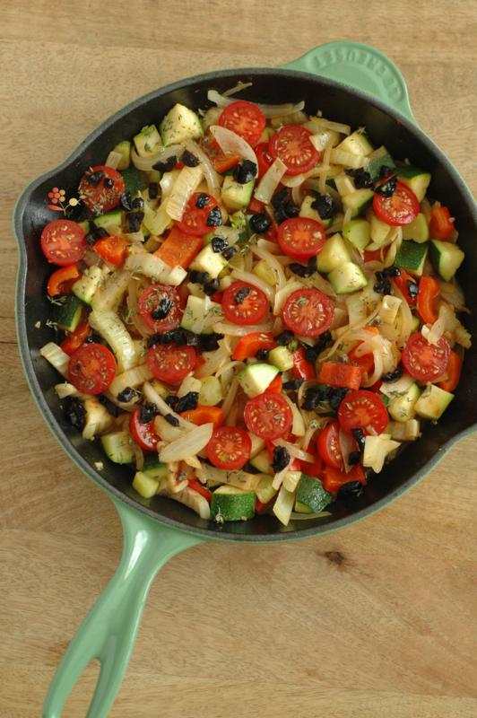 Poêlée de légumes rôtis au four & tofu laqué_1
