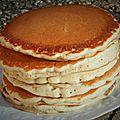 Pancakes au lait d'amande