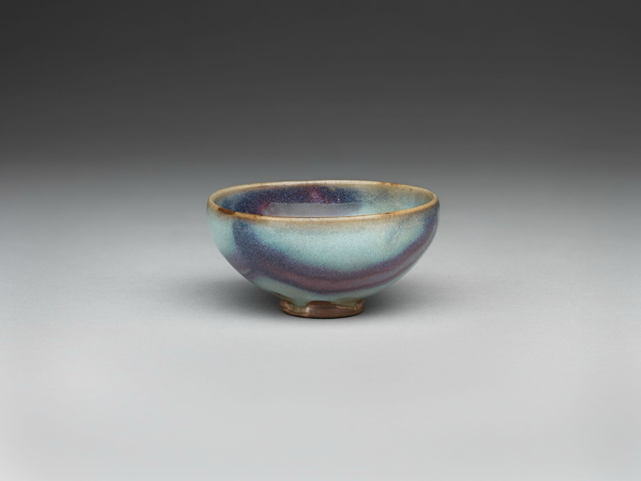 Small Circular Wine Bowl with Purple Splashes, Ming dynasty, 1368-1644, probably 15th century, 1942