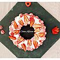 Gâteau meringué vanille fraises - number cake 0 -