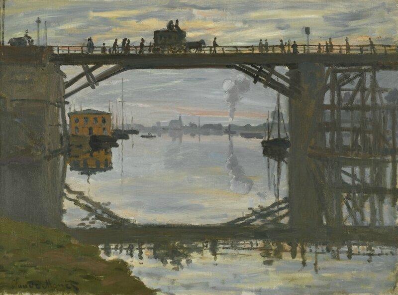 Monet, le pont de bois