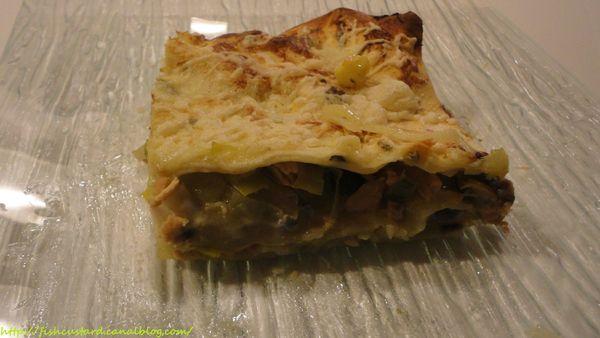 Lasagnes de saumon, poireaux et gorgonzola (12)