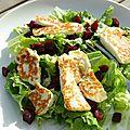 Salade de betterave et halloumi
