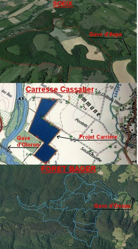 Carrieres et Gaves