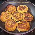 Croquettes de lentilles corail-carottes-oignons