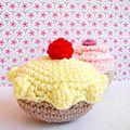 Tartelette et cupcake au crochet