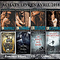 Achats livres ! avril 2018