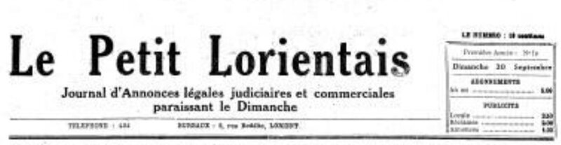 Presse Le Lorientais 1923_1