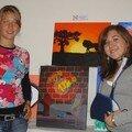 Laura et Virgilia (élèves occasionnelles) et premier prix 2006de Laura pour