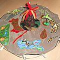 tapis de jeu foldingo dinosaures fait main, dinosaur handmade fold and go play mat (1)