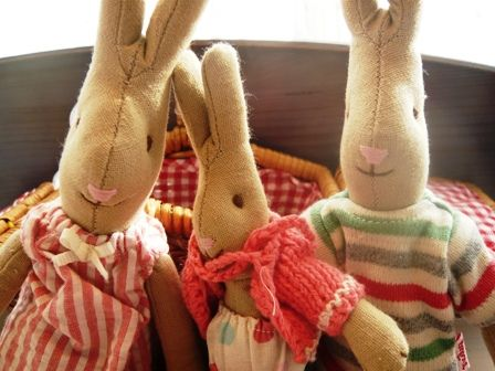 famille lapins maileg