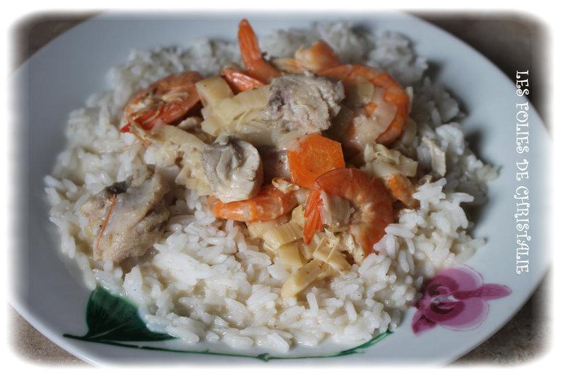 Poêlée poisson crevettes 6