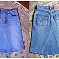Une petite jupe en jean