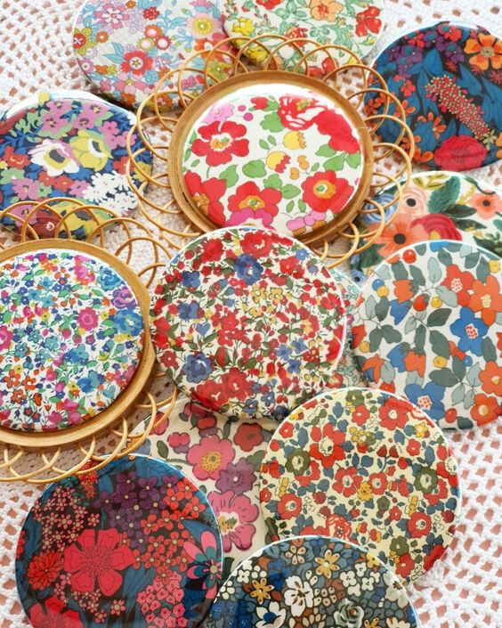 badges tissu liberty