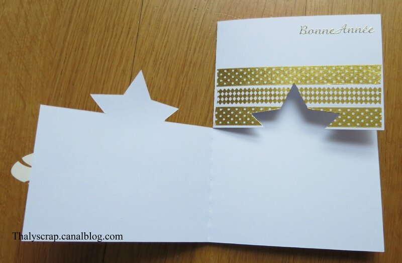 Carte étoile blanche - 03 b