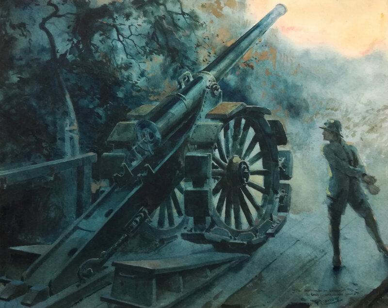 le canon, dessin, arch Ste-Marie