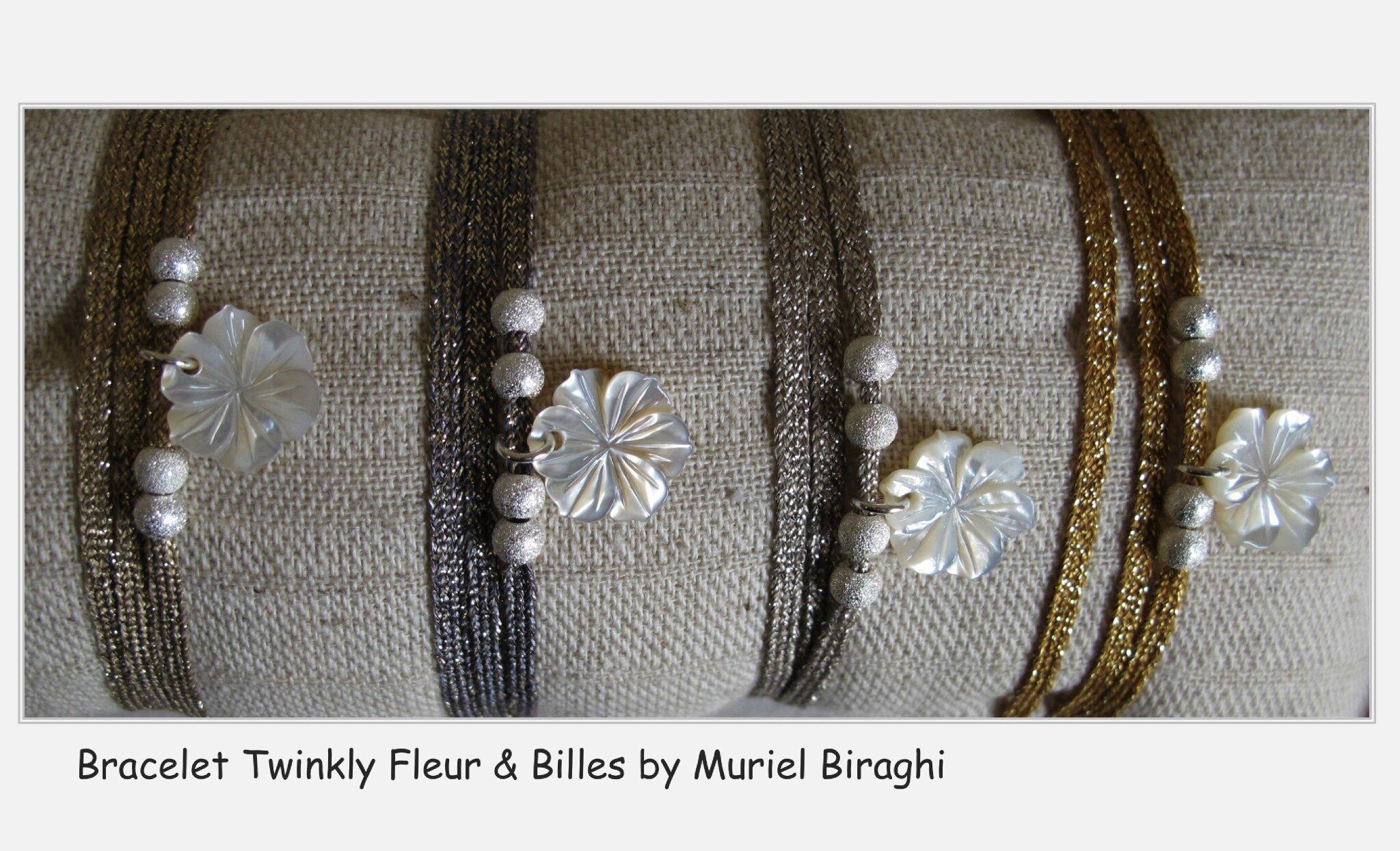 Bracelet/Collier Twinkly Fleur & Billes