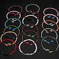 Bracelets multicouleurs en délire !! fil de cuivre