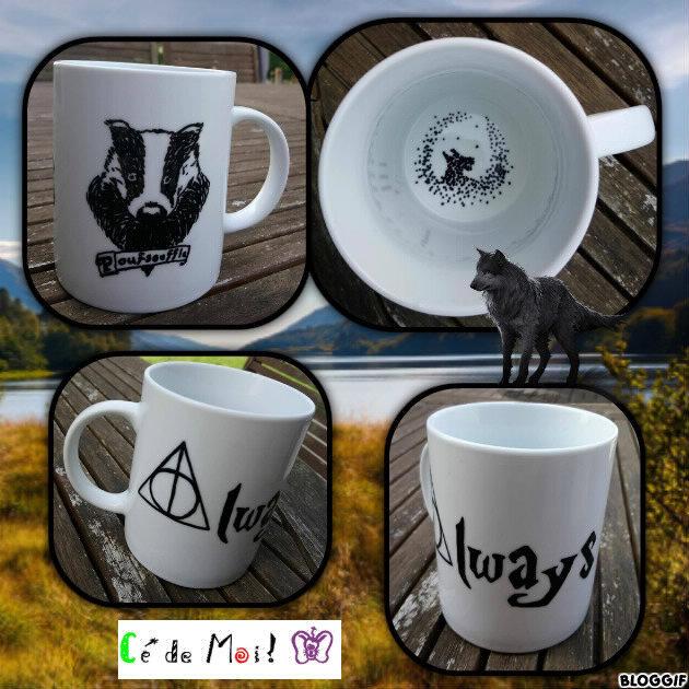 18-05-16 tasse HP - Sinistros reliques de la mort poufsouffle - défi mai Harry Potter Les symboles